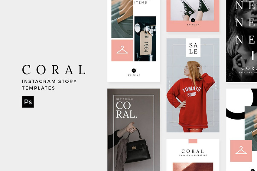 Coral - Instagram Story Template
