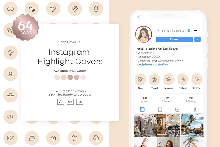 Instagram Stories Highlights Covers Icon Kit