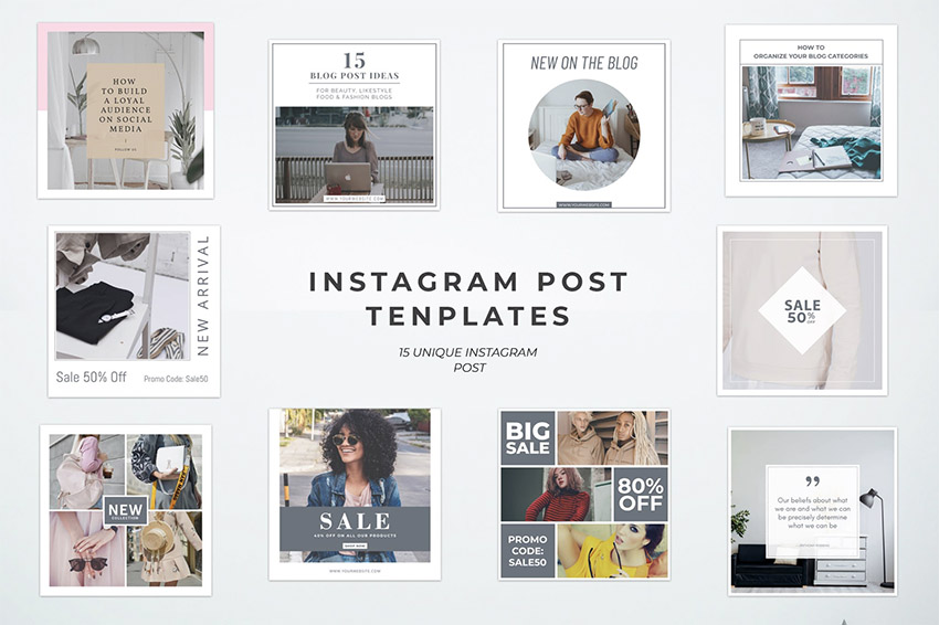 Simple Instagram Post Templates