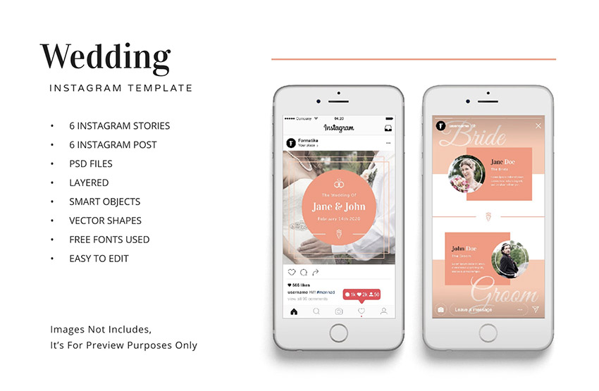 Wedding Instagram Kit Template