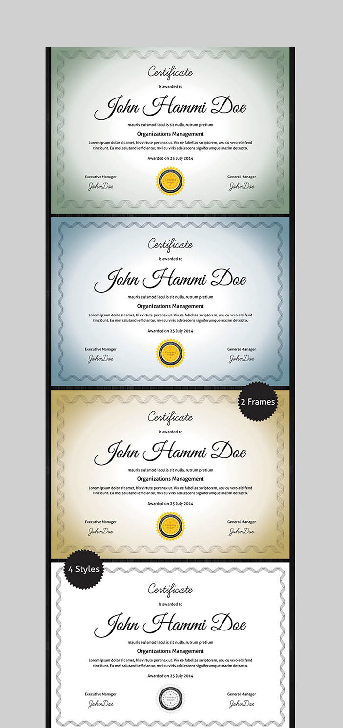 20 Best Word Certificate Template Designs To Award