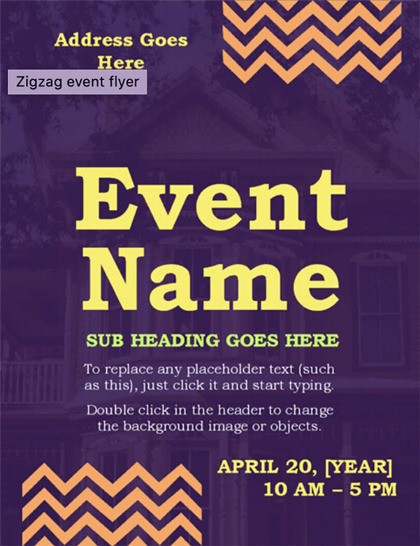 Zigzag Event Flyer