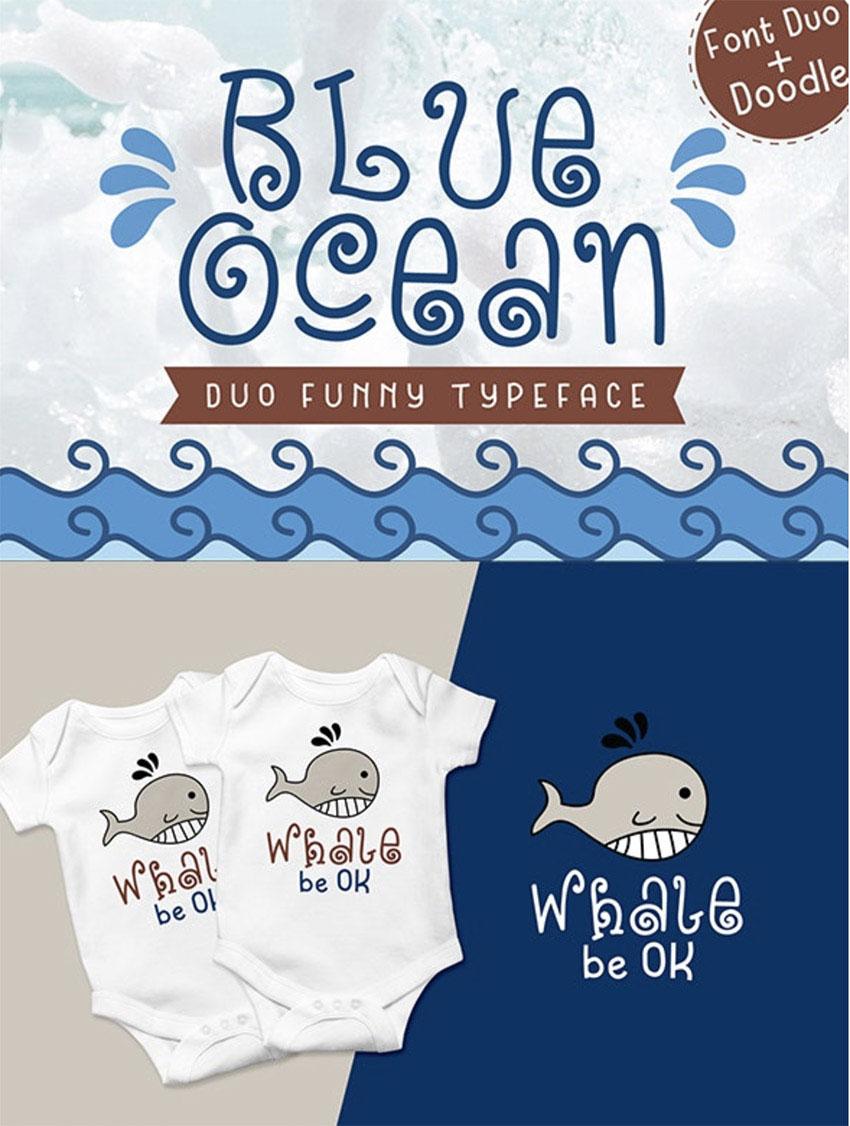 Blue Ocean - Baby Font