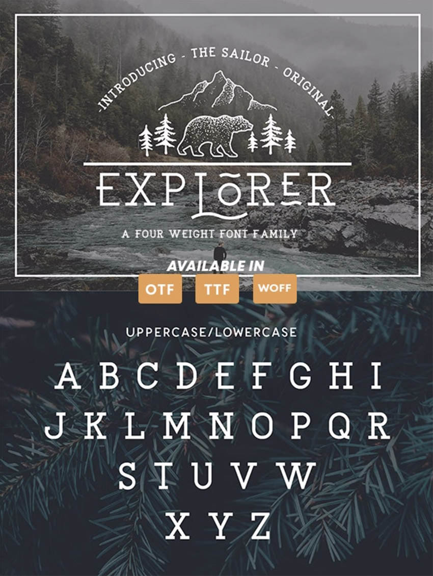 EXPLORER - The Sailor Original Typeface