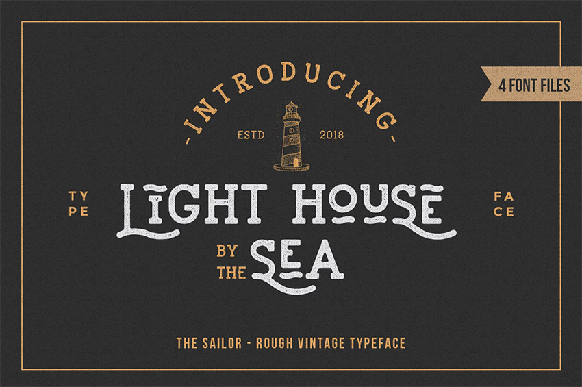 LightHouse - Sailor Rough Typeface