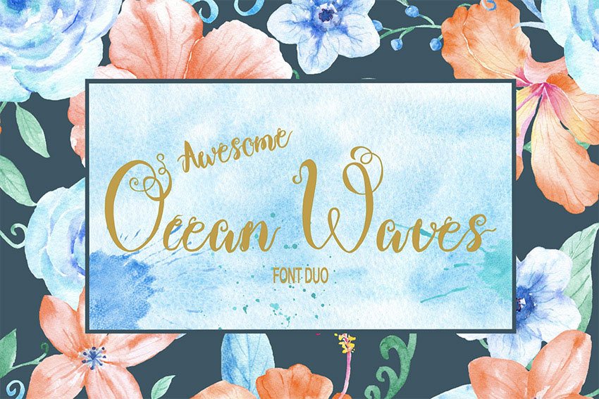 Ocean Waves Brush Font Duo