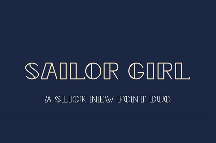 Sailor Girl Font Duo