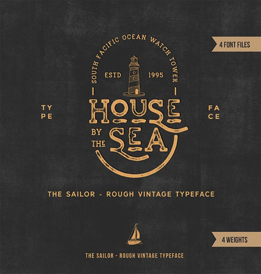 The Sailor Vintage Textured Typeface