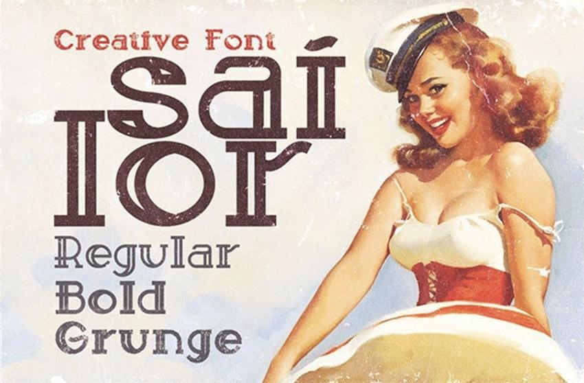 Vintage Sailor Font