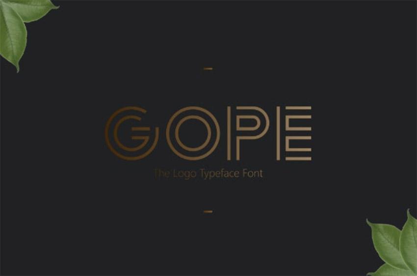 Gope Typeface