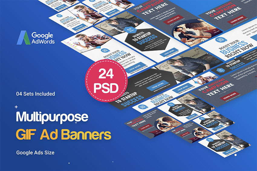 Multipurpose Business Startup GIF Banners Ad
