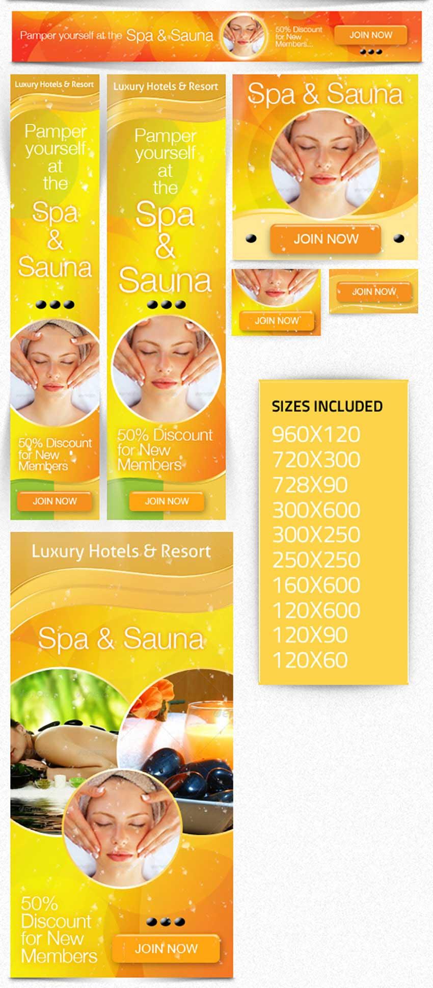 Beauty Spa Web Banner Ad Kit