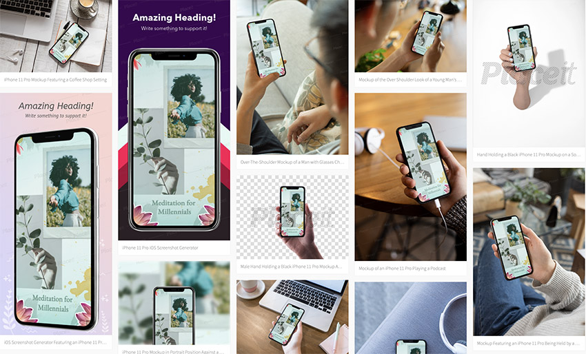 iPhone Mockup Generator Options