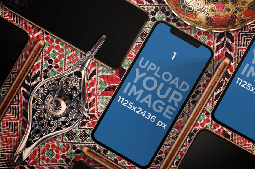iPhone 11 Pro Mockup Featuring an Arabic Setting