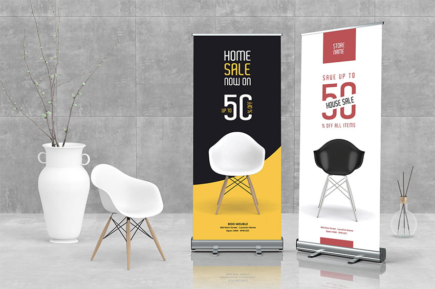 Furniture Roll-Up Banner