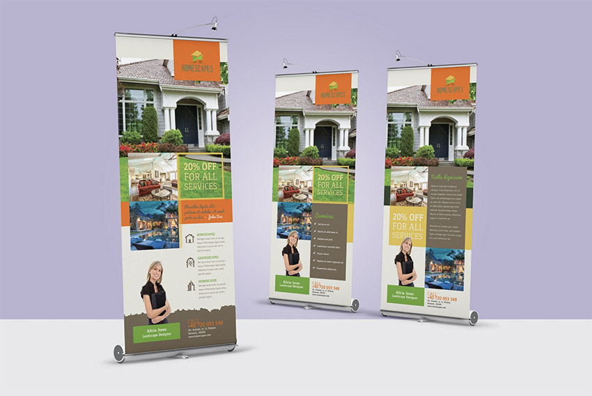 Landscaping Roll-Up Banner