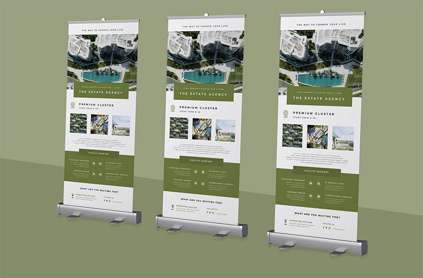 Roll-up Banner Property Promotion