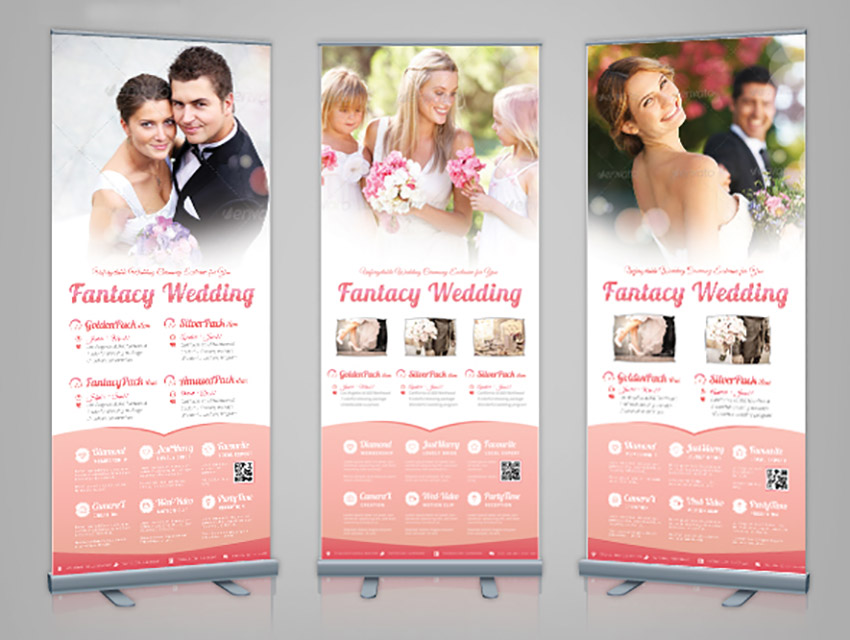 Corporate Roll-up Banner - Wedding