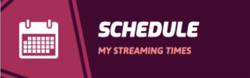 Twitch Schedule Panel Templates