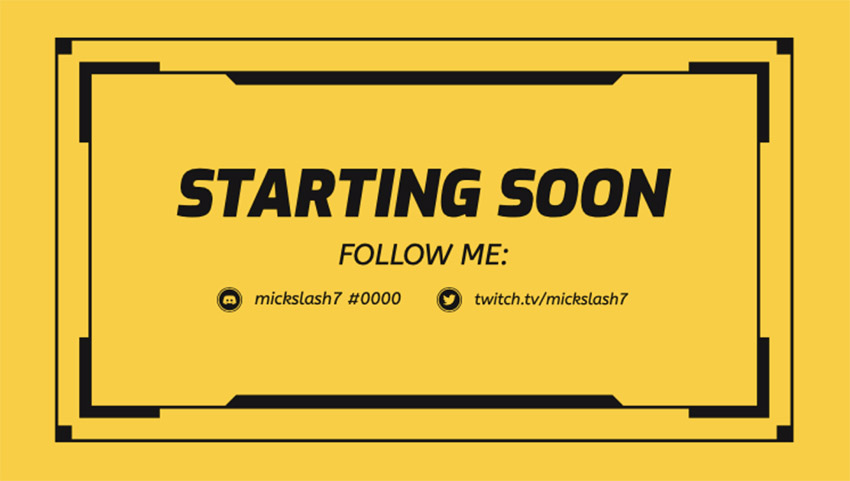 Simple Twitch Overlay Maker for a Starting Soon Live Stream