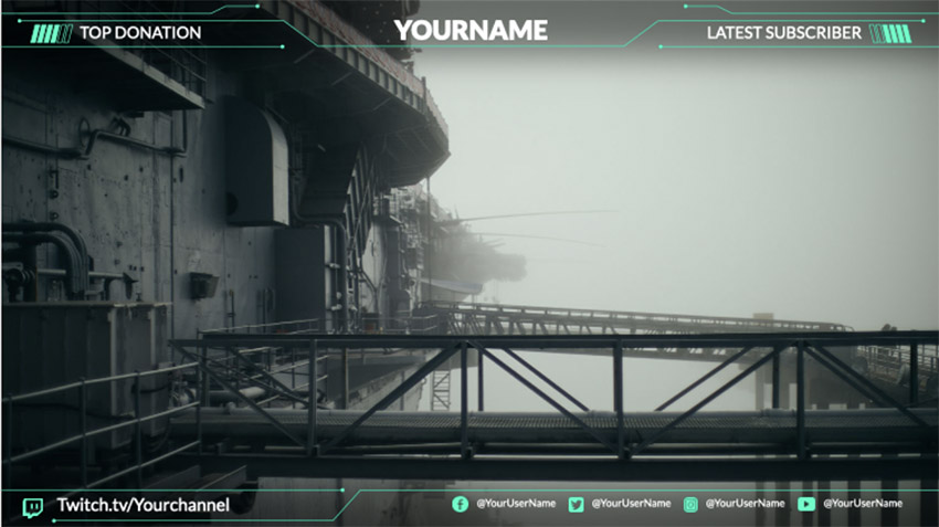 Twitch Overlay Template for an Action Gaming Twitch Account