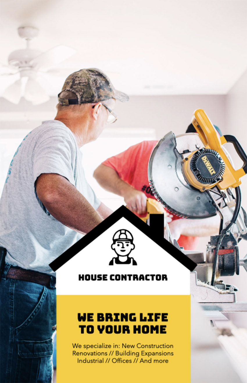 Flyer Design Template to Create Contractor Flyers