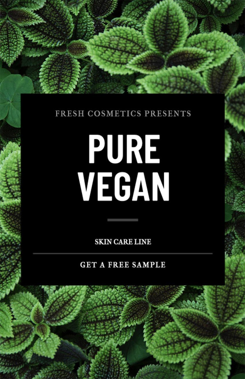 Flyer Maker for Nature Cosmetics with Nature Images