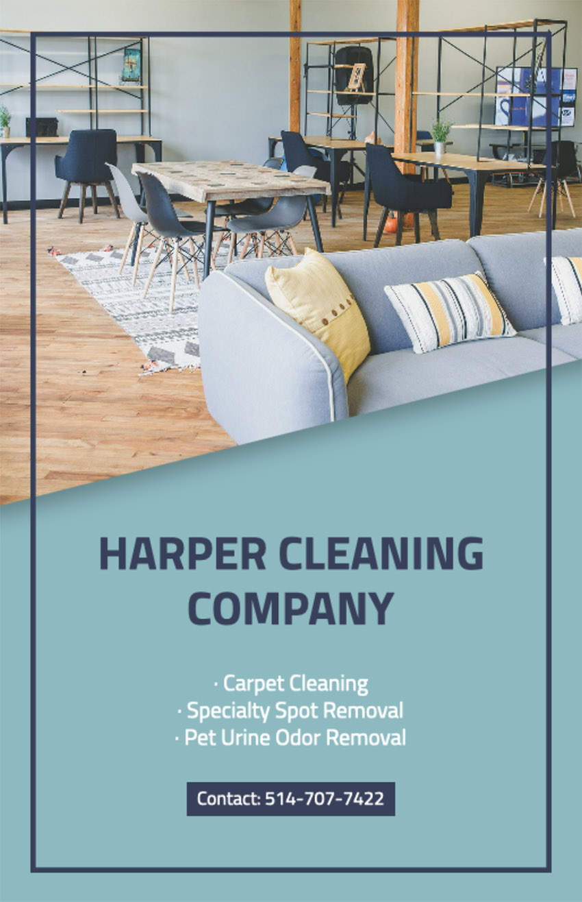 Flyer Maker for Professional Cleaning Services
