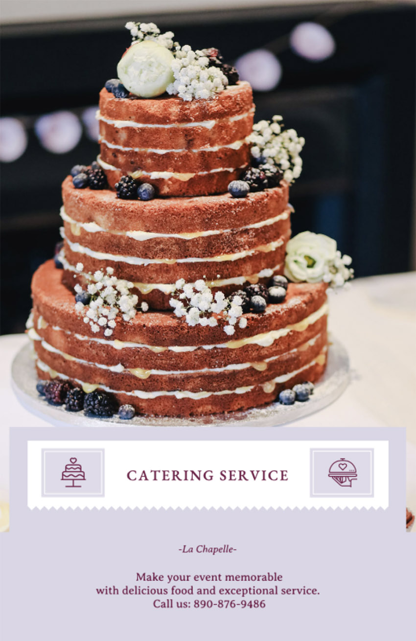 Flyer Maker for a Catering Service Company