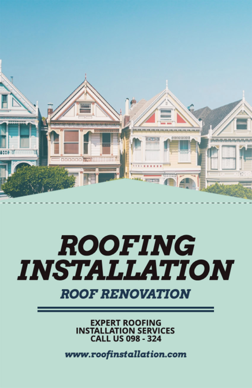 Flyer Template for a Roofing Installation Company