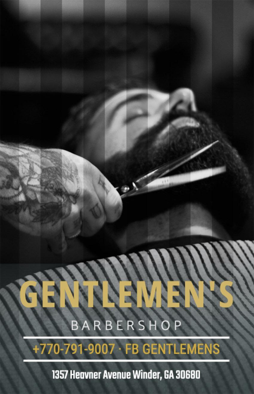Online Flyer Maker for a Barber Shop