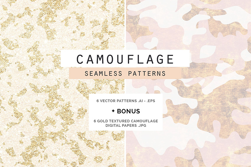 Camouflage Glam Patterns  Papers
