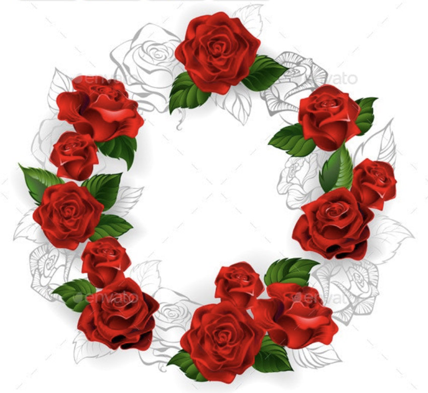 Circle of Red Roses