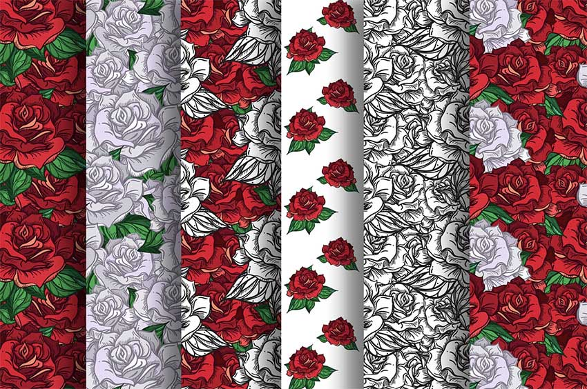 Romantic Roses Patterns
