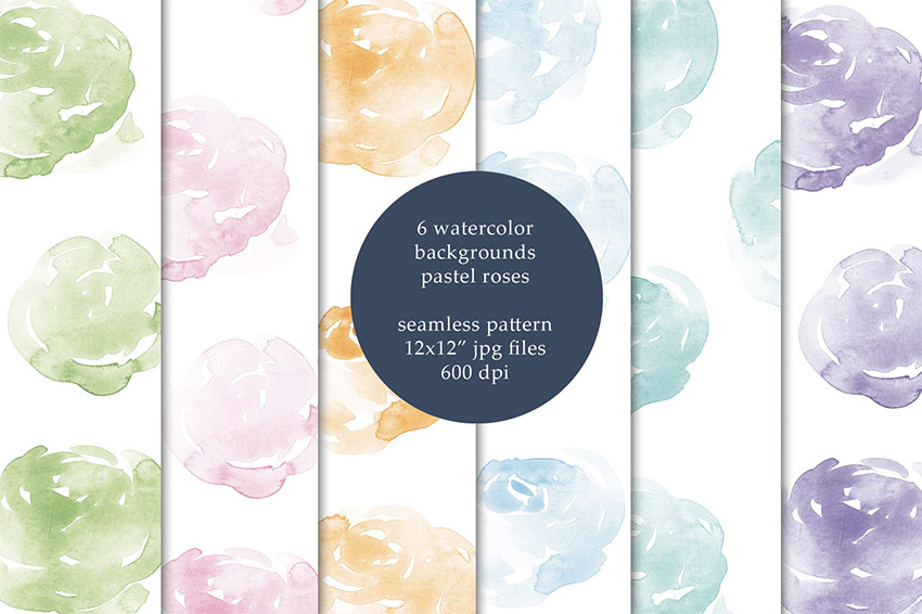 Watercolor Seamless Backgrounds