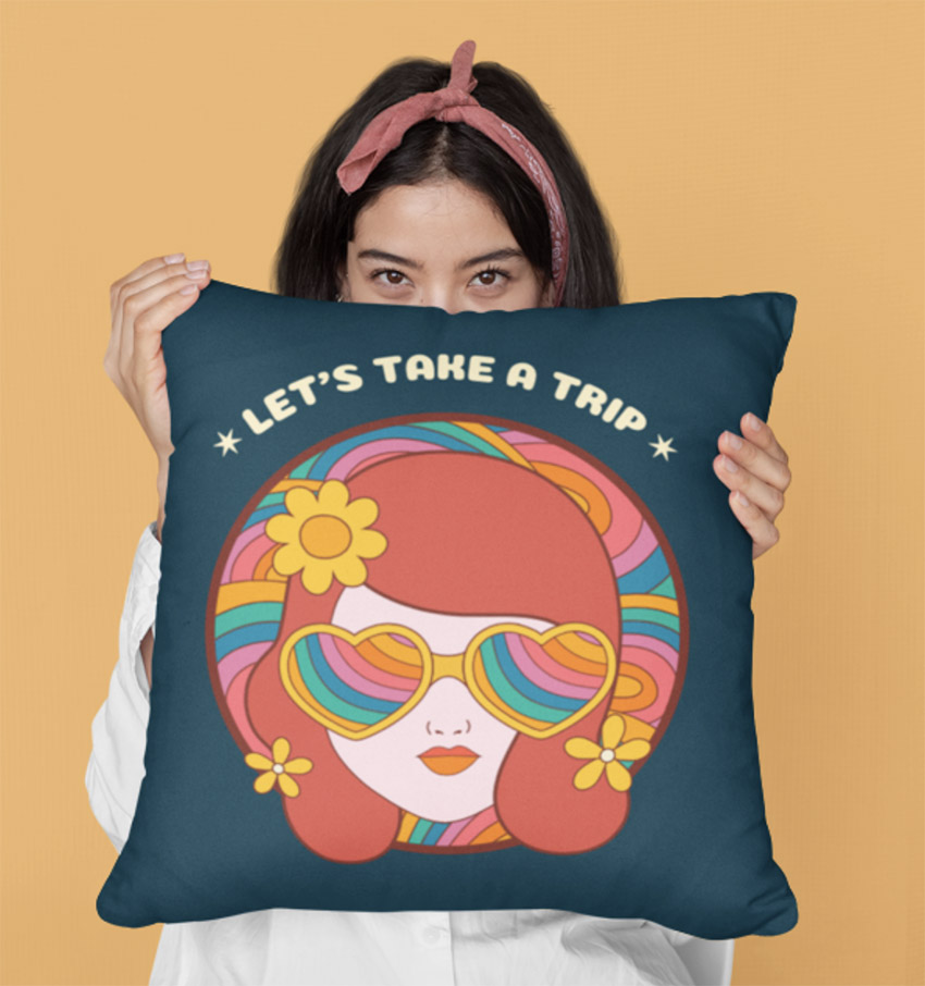 One of the terrific pillow mockups youll find at Placeit