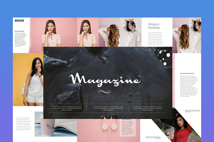Magazine Keynote Template