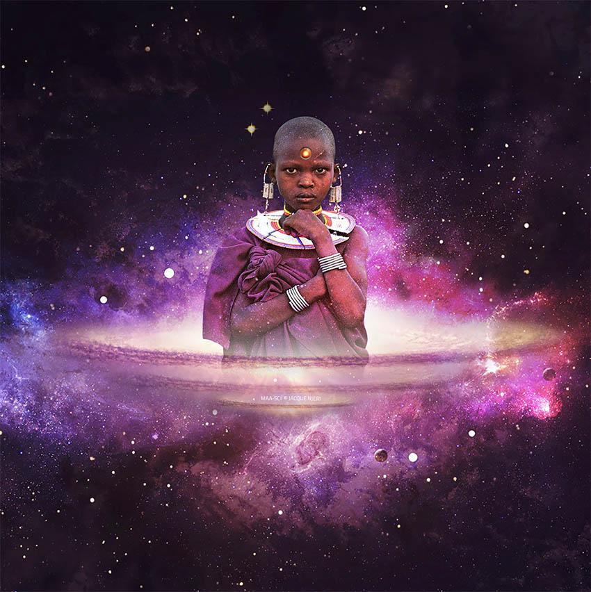 From the series MaaSci by Kikuyu artist from Kenya Jacque Njeri