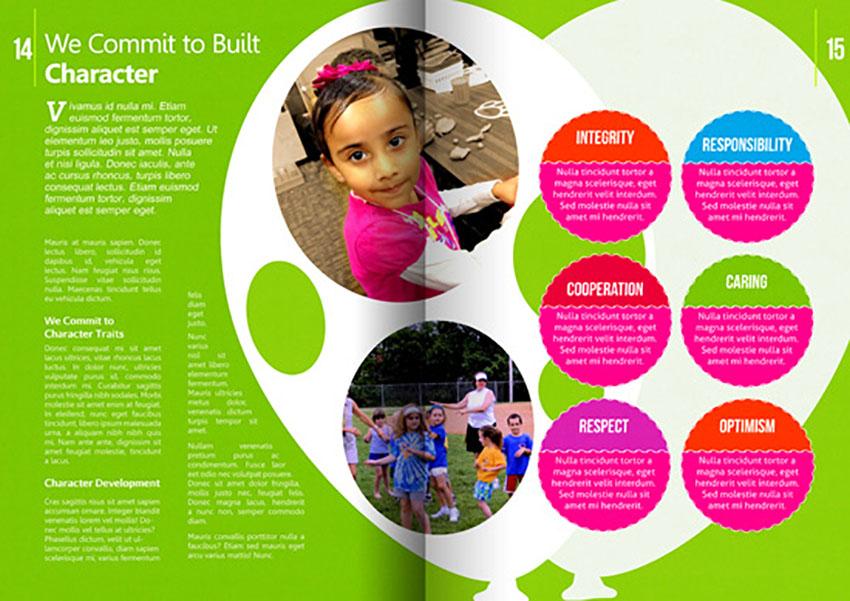 16 Pages Kindergarten Brochure