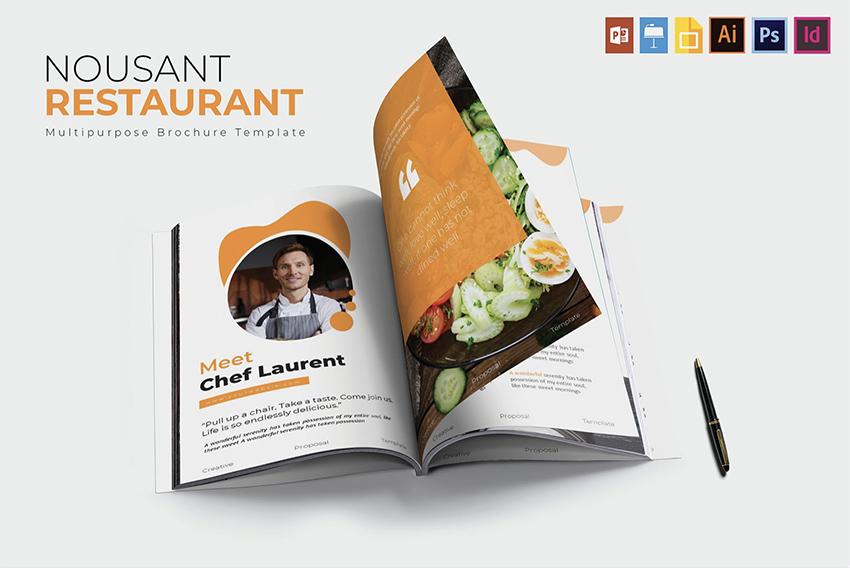 Nousant Restaurant  Brochrue Template