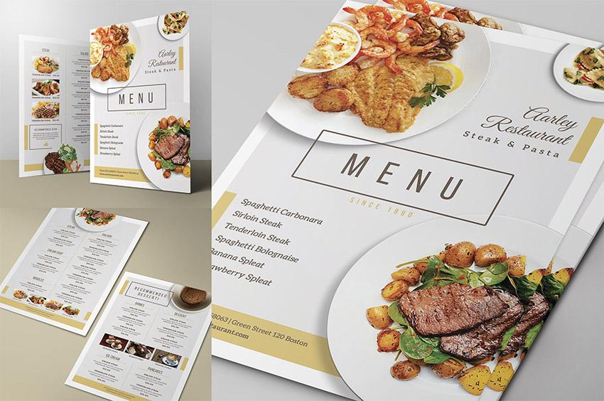 Simple Restaurant Menu