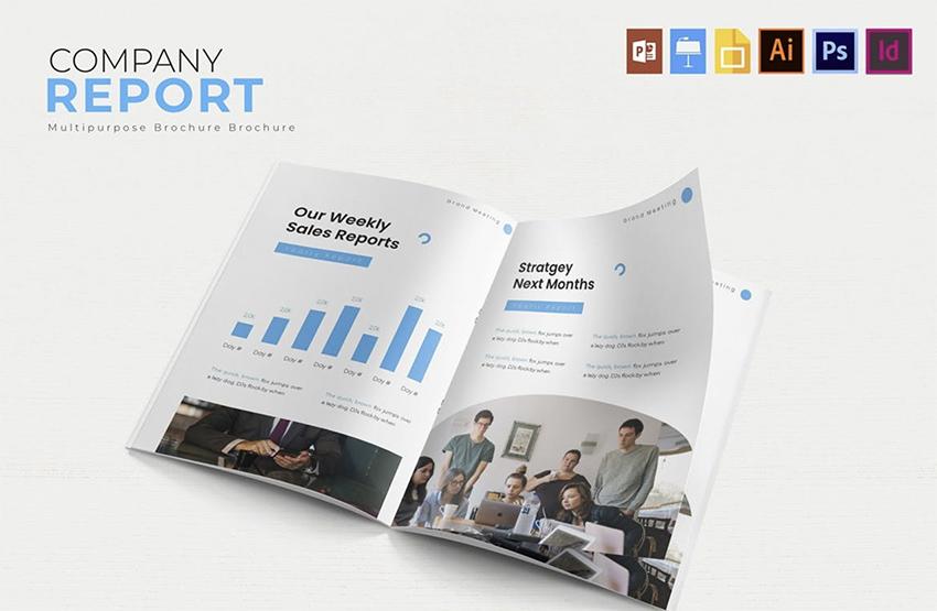 Company Brand  Report Template