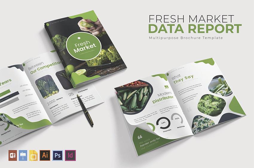 Fresh Market Data  Report Template