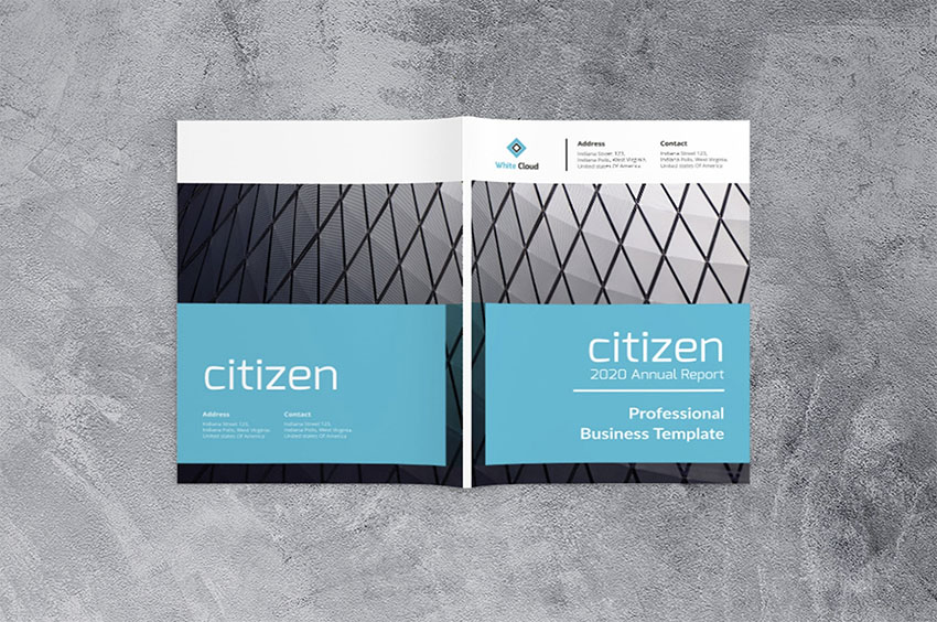 Citizen Annual Report Business Template