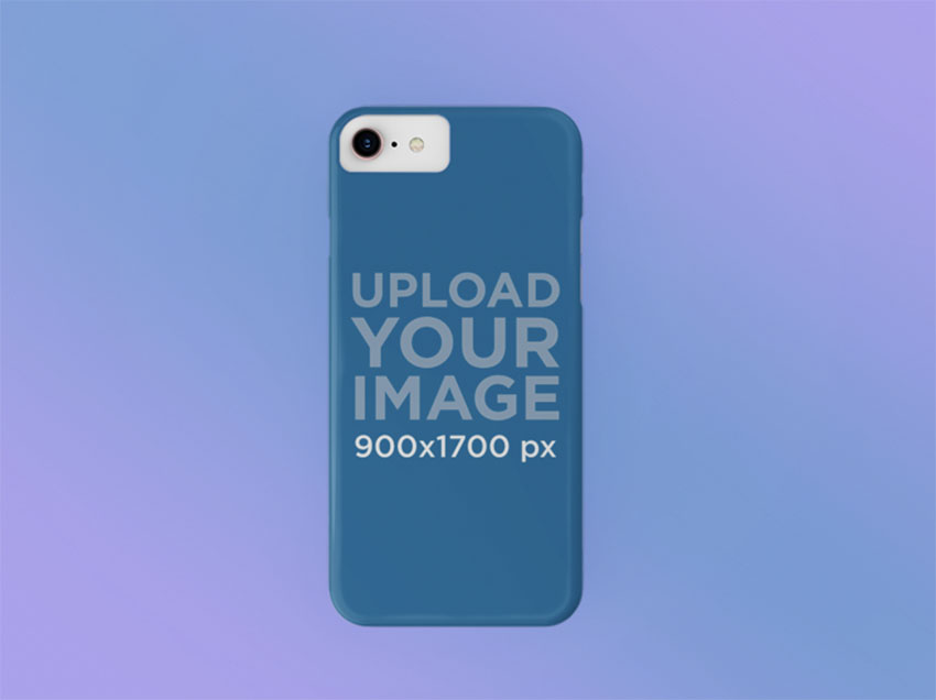 Mockup of a Phone Case Over a Gradient Background