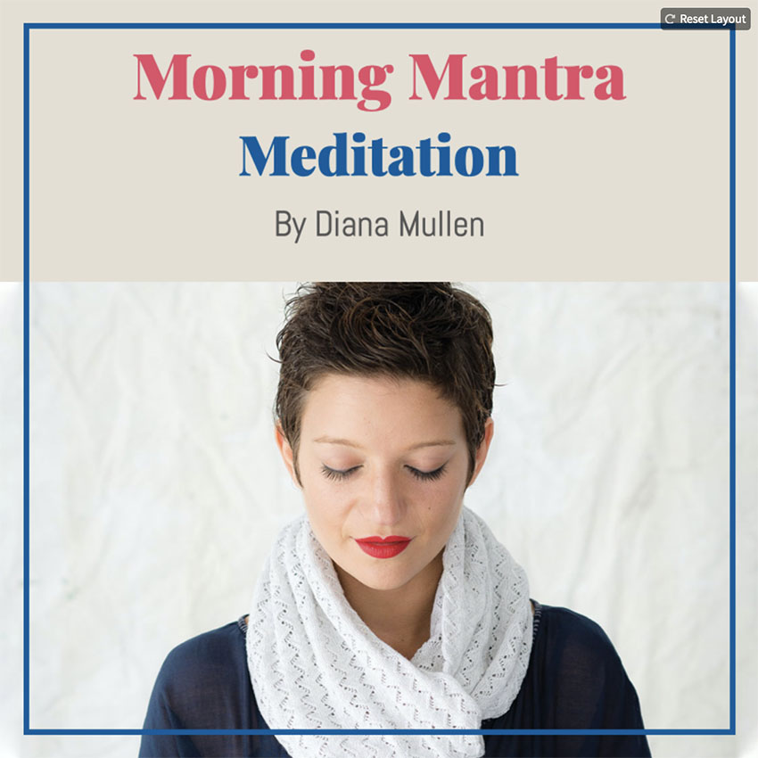Podcast Cover Creator for Morning Mantra Meditations