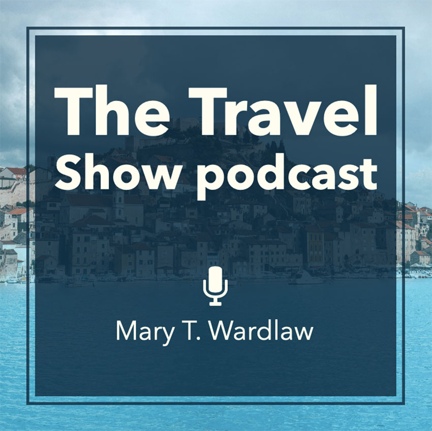 Podcast Cover Maker for a Travel Show