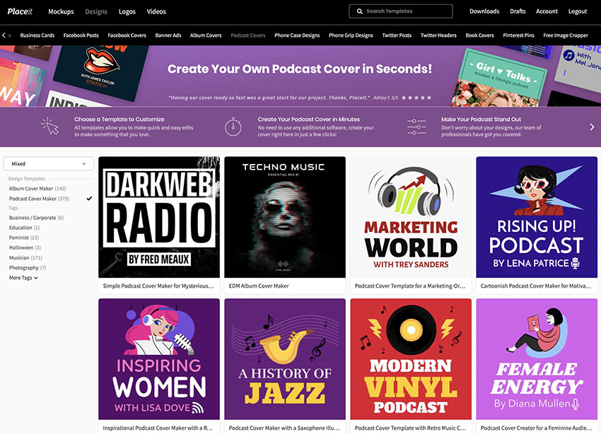How to Make Podcast Covers Using the podcast artwork creator