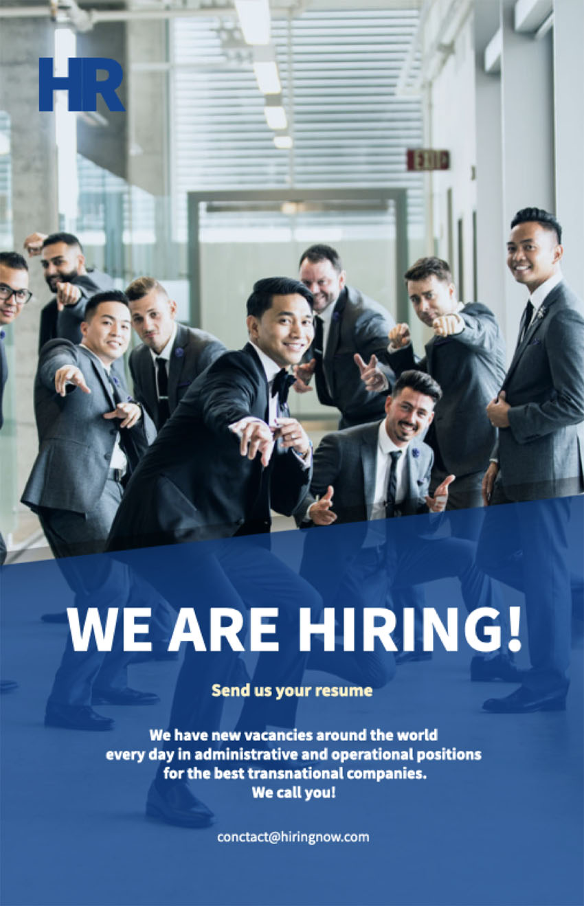 Flyer Design Template for a Recruitment Company