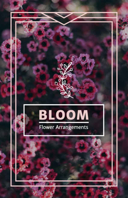 Online Flyer Maker for Flower Shops with Floral Arrangements